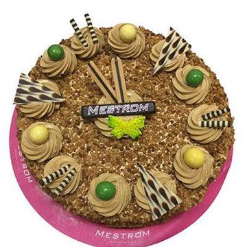 Afbeeldingen van hazelnoot-mocca creme taart mignon