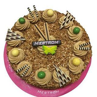 Afbeelding van hazelnoot-mocca creme taart middel
